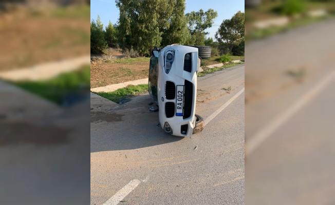 İskele-Gazimağusa ana yolunda korkutan kaza!