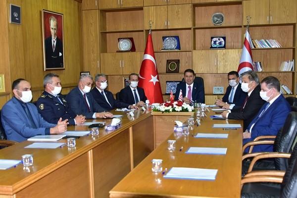 Kovid-19 önlemleri Başbakanlık'ta masaya yatırıldı