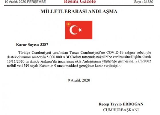 Türkiye'den KKTC'ye Covid-19  sebebiyle hibe...