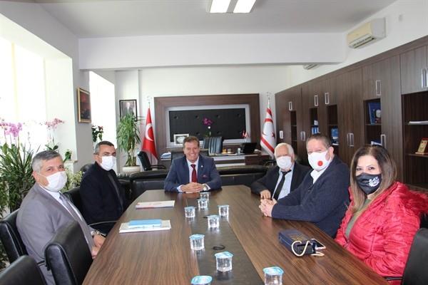 Arıkl,ıKamu- İş Başkanı Ahmet Serdaroğlu'nu kabul etti...