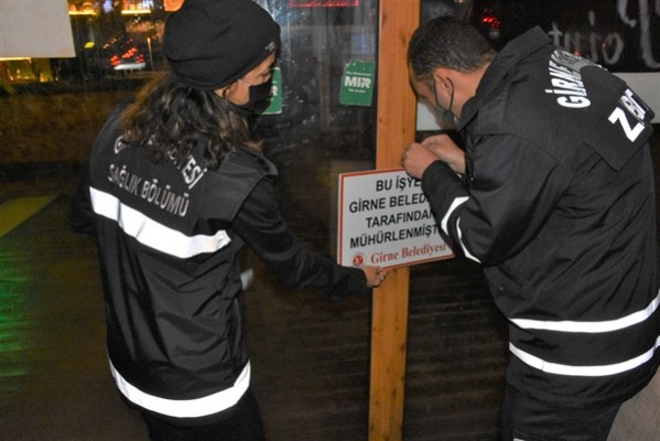 Girne'de 4 işyeri kapatıldı...
