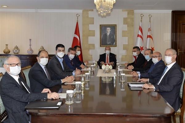 Tatar Meclis'te temsil edilen siyasi parti başkanlarıyla görüştü