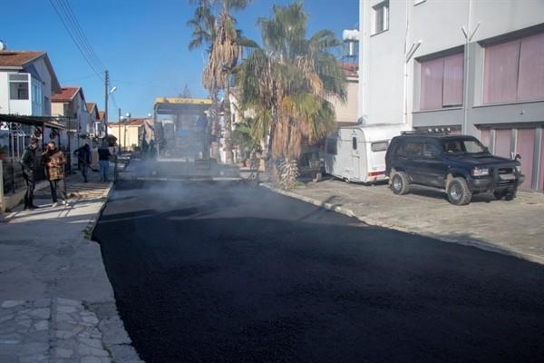 Tuzla'daki sokaklarda asfalt dökümüne başladı...