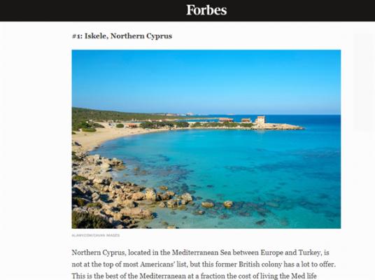 Forbes: Kuzey Kıbrıs sahil kıyısında en iyi fırsat sunan ülke
