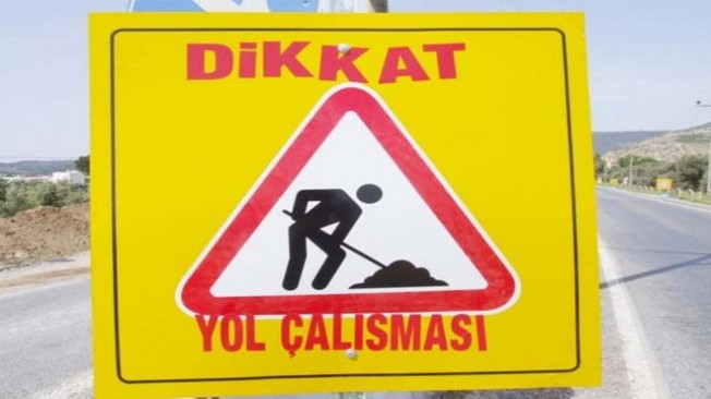 Girne'den Lefkoşa'ya gidiş yönü trafik akışı kapalı