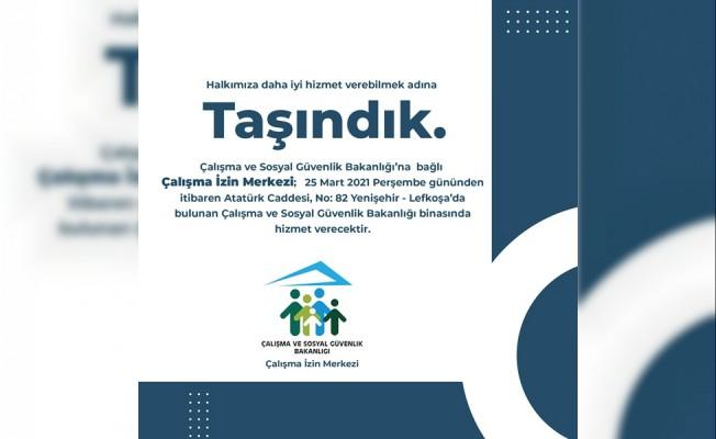 Çalışma izin merkezi, Yenişehir'e taşındı