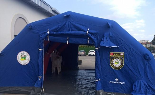 Sivil Savunma'dan Pandemi hastanesi'ne çadır desteği!