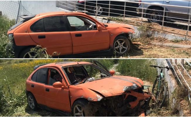 Ercan-İskele yolunda kaza! 2 Yaralı var...