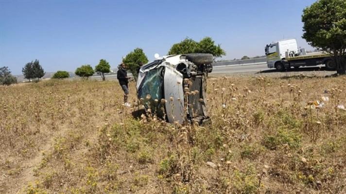 Güzelyurt-Lefkoşa yolunda trafik kazası