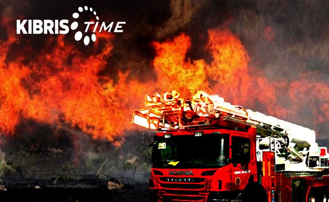 Lefkoşa'da bir dairede yangın