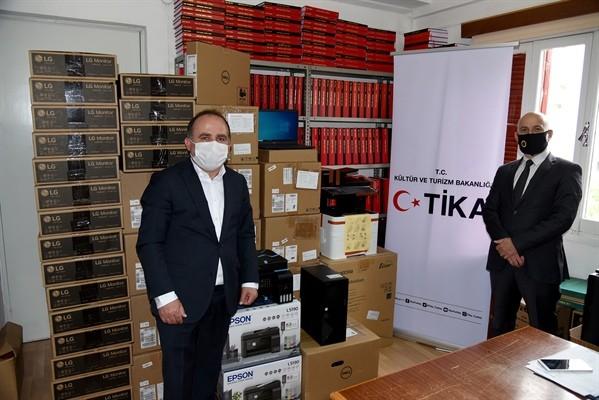 TİKA, TAK'a teknik ekipman desteğinde bulundu