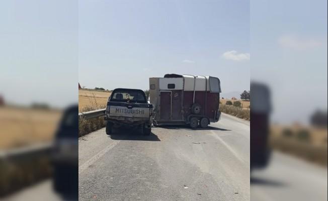 Akova-Geçitkale arasında trafik kazası