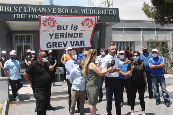 KAMU-İŞ  Serbest Liman'da grevde…
