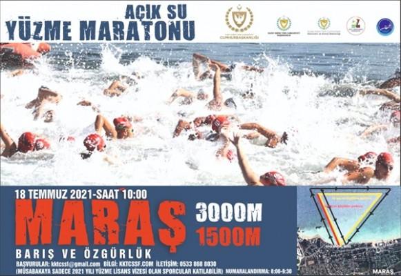 """""""Barış ve Özgürlük Açık Su Yüzme Maratonu"""" düzenliyor"""