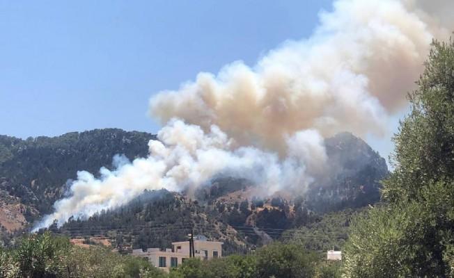 Karşıyaka'daki yangın büyük ölçüde kontrol altına alındı