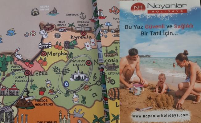 Noyanlar Holidays'ten EOKA anıtı tanıtımlı broşür...