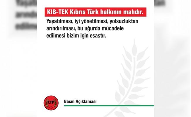 CTP: KIB-TEK Halkın malıdır
