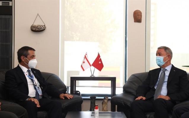 Ertuğruloğlu, TC Milli Savunma Bakanı Akar ile görüştü