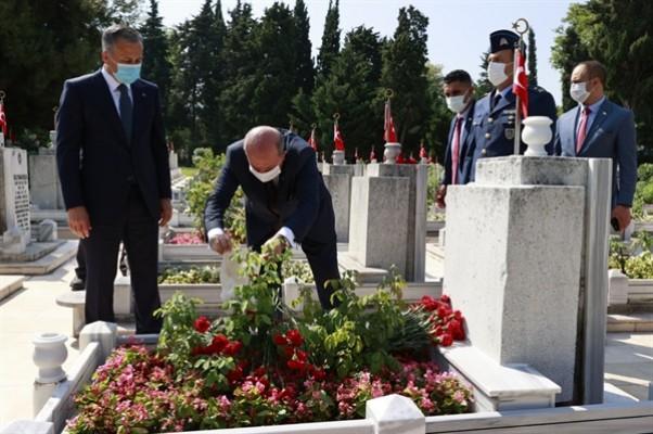 Tatar Şehit Pilot Yüzbaşı Cengiz Topel'i anma törenine katıldı
