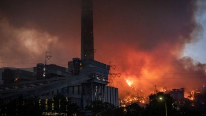 Termik santraldeki yangın söndü