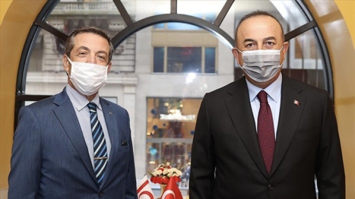 Çavuşoğlu, Tahsin Ertuğruloğlu ile görüştü