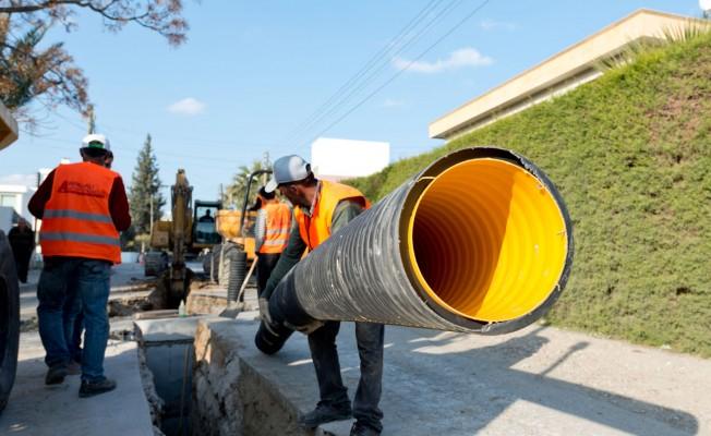 Gönyeli'de, Alt yapı çalışmaları yüzde 98 oranında tamamlandı.