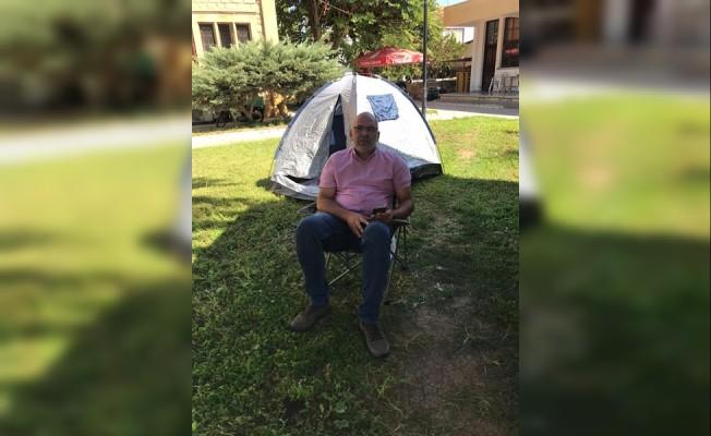 Sarıçizmeli'den imar planı için çadır eylemi
