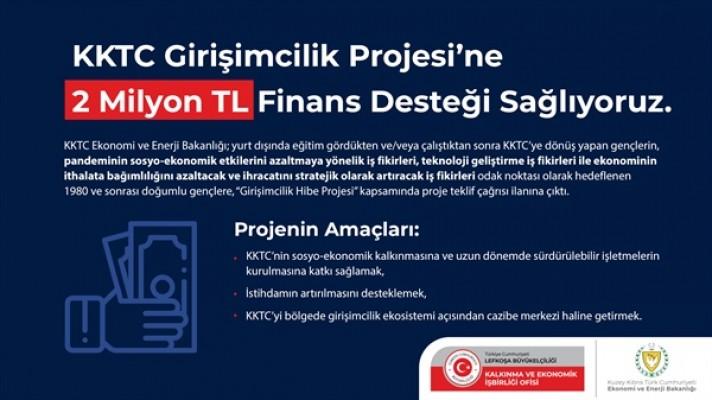 """KEİ'den, """"KKTC girişimcilik projesi""""ne 2 Milyon TL"""