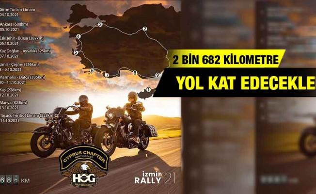 Kıbrıslı Harley motosikletçiler yola çıkıyor...