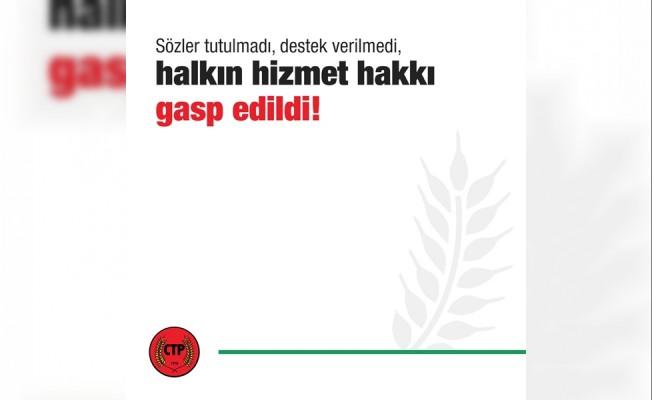 """""""UBP-DP- YDP Hükümeti belediyeleri fakirleştirdi"""""""