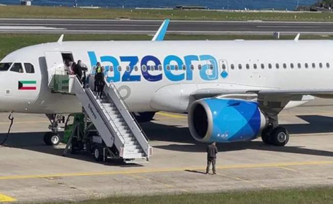 Yolcu uçağına bomba ihbarı
