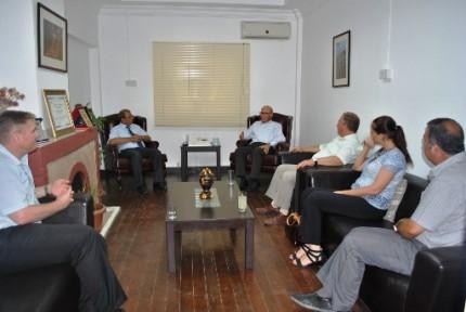 2. Cumhurbaşkanı Mehmet Ali Talat'a nezaket ziyareti gerçekleştirildi