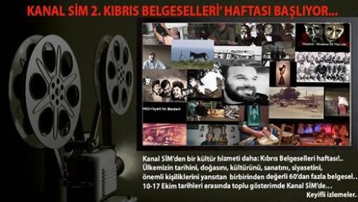 '2'NCİ KIBRIS BELGESELLERİ' HAFTASI BAŞLIYOR