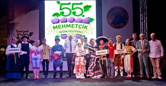 """""""55. MEHMETÇİK ÜZÜM FESTİVALİ"""" BÜYÜK İLGİ GÖRDÜ"""
