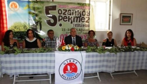 5'İNCİ OZANKÖY PEKMEZ FESTİVALİ CUMA GÜNÜ BAŞLIYOR