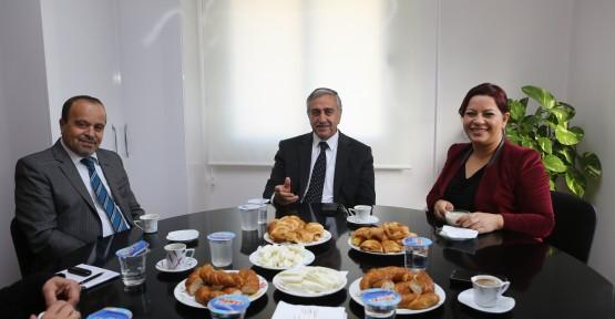 AKINCI, KIBRIS TİME'I ZİYARET ETTİ