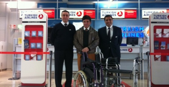 Almanya'dan tekerlekli sandalye katkısı
