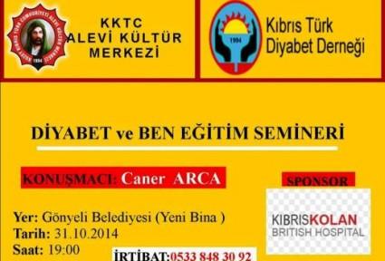 """""""DİYABET VE BEN"""" KONULU EĞİTİM SEMİNERİ"""