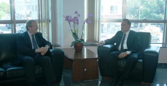 Fellahoğlu, İtalya Büyükelçisi Cerboni ile görüştü