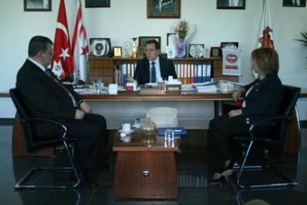 FELLAHOĞLU, KTTB YÖNETİM KURULU ÜYELERİ İLE PROF. DR. GÜLER'İ KABUL ETTİ