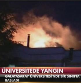 Galatasaray Üniversitesi'i yanıyor!