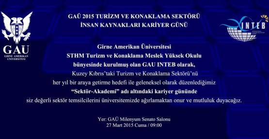 GAÜ'DE TURİZM KONULU KARİYER GÜNÜ 27 MART'TA GERÇEKLEŞİYOR