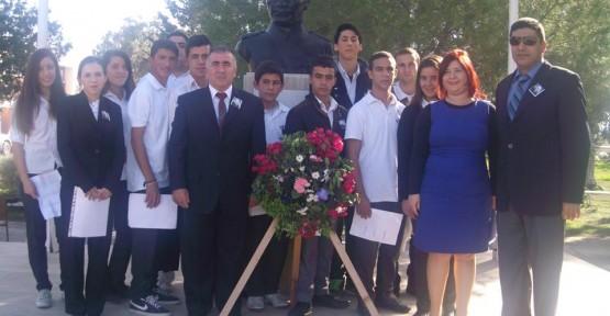 HASPOLAT MESLEK LİSESİ ATATÜRK'Ü ANDI