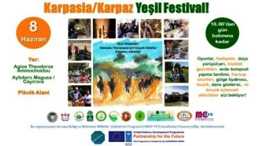 """KARPAZ'DA """"YEŞİL FESTİVAL"""" DÜZENLENİYOR"""