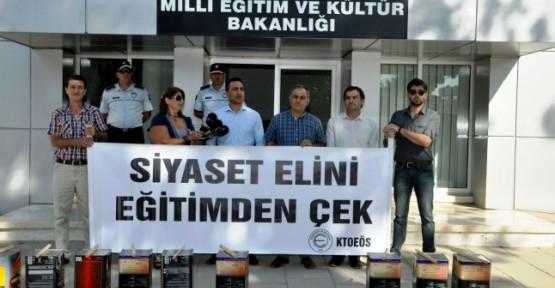 KTOEÖS'TEN TENEKE ÇALMA EYLEMİ