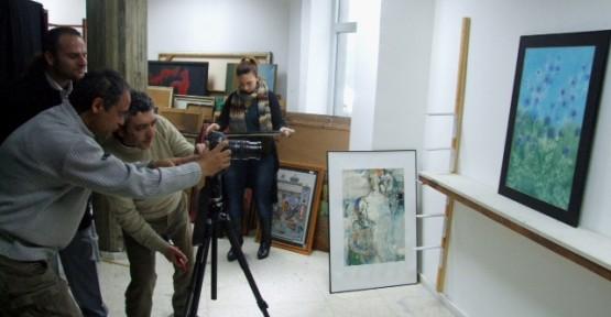 Kültür Dairesi'nin resim koleksiyonunun fotoğraf çekimleri tamamlandı