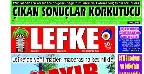 LEFKE GAZETESİ'NİN 30. SAYISI YAYINLANDI