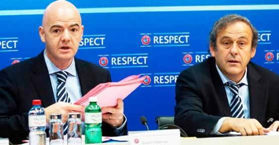Platini ve Infantino'dan flaş açıklama