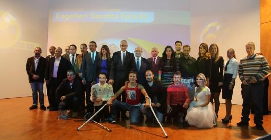 SANAT ENGEL TANIMAZ SERGİSİ ERCAN HAVAALANI'NA TAŞINIYOR