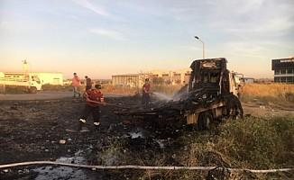 Alayköy'de kamyon yandı!